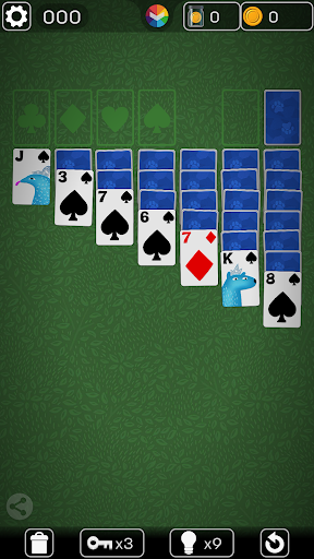 FLICK SOLITAIRE - FLICKING GREAT NEW CARD GAME android2mod screenshots 1