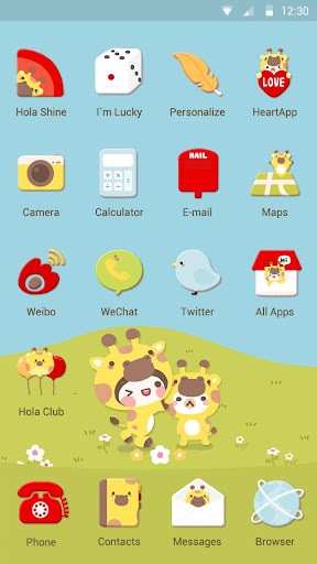 Giraffe Day  - Hola Theme|玩漫畫App免費|玩APPs