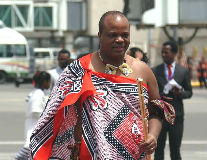 King Mswati III of eSwatini arrives at Bole International Airport ahead of the 29th African Union summit in Addis Ababa, Ethiopia on July 2 2017. File Picture: GETTY/MINASSE WONDIMU HAILU/ANADOLU AGENCY