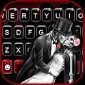 Skeleton Love Keyboard Background icon