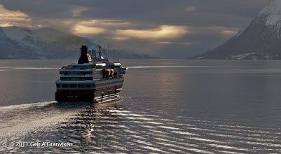 Photo: Hurtigruten (or the Coastal Express) Nordkapp on it's way out the Molde fjord