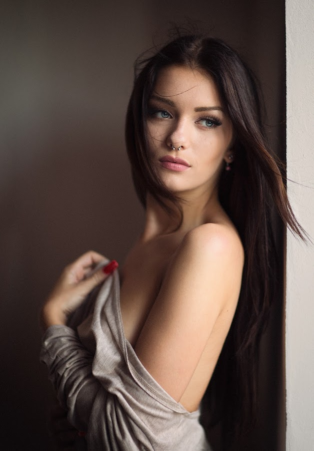 Veronika by Milan R - People Portraits of Women ( sexy, indoor, light, hair, portrait, sensual )