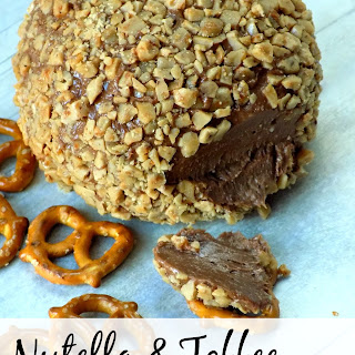 Nutella and Toffee Dessert Cheeseball.