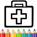 Toy Doctor Set coloring and drawing for Kids icon