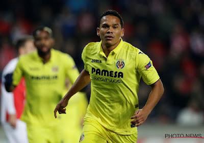 L'ancien Brugeois Carlos Bacca se met en évidence avec Villarreal, mais perd