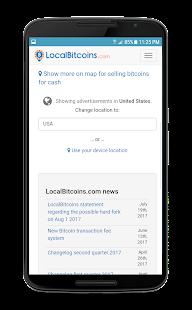 LocalBitCoins - náhled