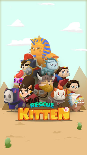 Rescue Kitten - Rope Puzzle apkmind screenshots 8