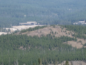 Photo: Old Faithful complex from top