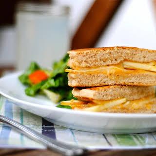 Cheddar Apple Pancake Sandwich.
