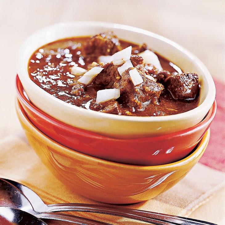 Texas-Style Chili Recipe