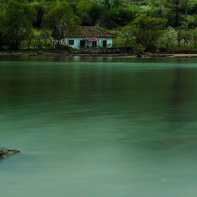 Abandoned by Octavian Oprea - Landscapes Travel ( water, lake house, lake, house, abandoned )