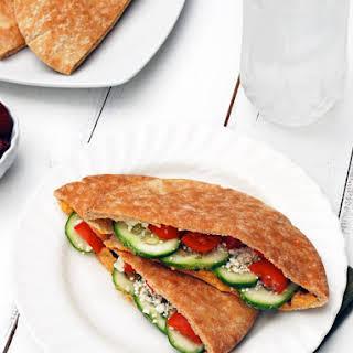 Greek Pita Sandwich.