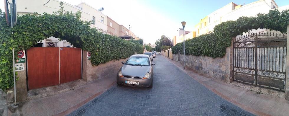 Calle Córdoba adornada con hiedras