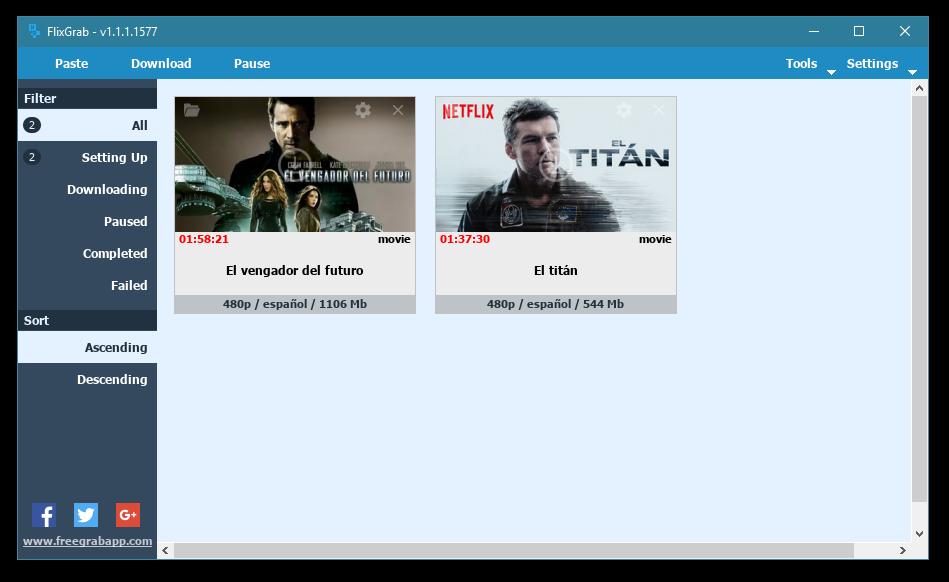 FlixGrab : Descarga contenido de Netflix a tu disco duro