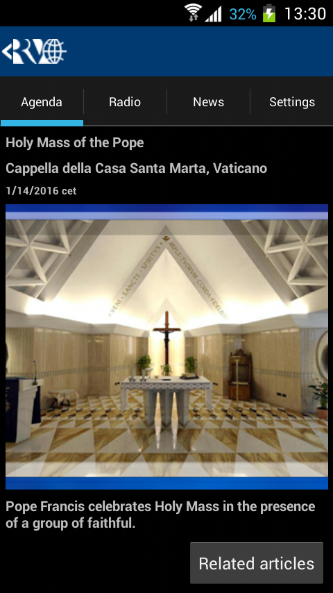 Radio Vaticana: captura de tela