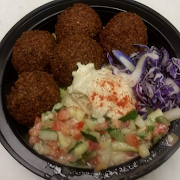 5 Falafel With Hummus Bowl