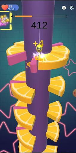 Imágenes de Orange Ball Helix Jump 3
