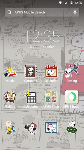 Snoopy theme for APUS