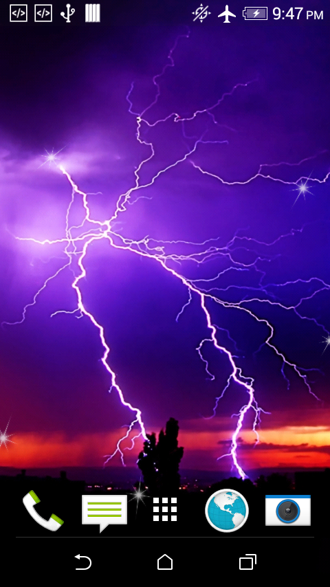 lightning live wallpaper android apps on google play