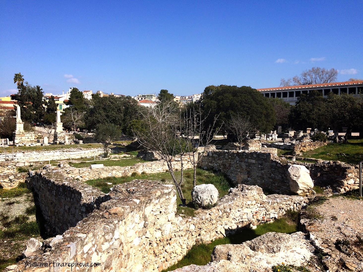 Agora with Stoa of Attalos, Athens, Greece