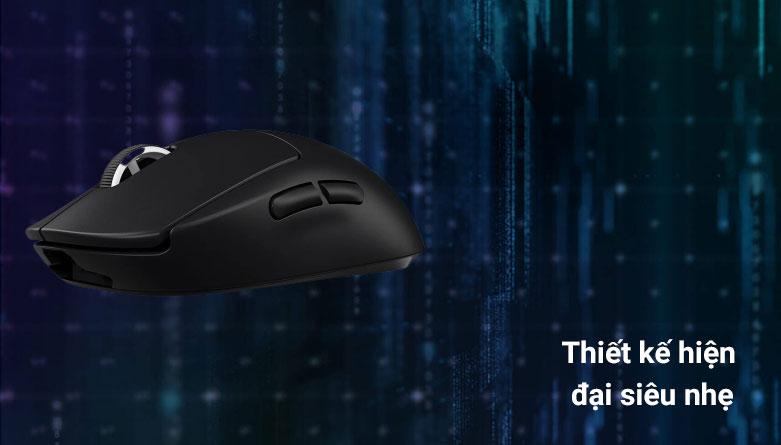 Chuột không dây gaming Logitech G Pro X - Super Light (Đen) | Thiết kế hiện đại siêu nhẹ