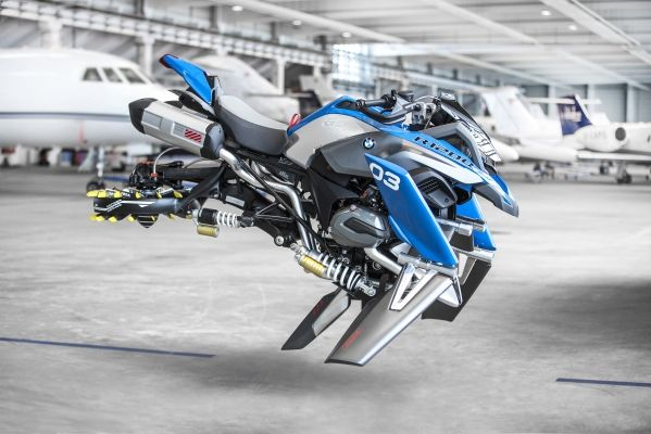 BMW Junior Company's Hover Ride Design Concept is the result of a creative collaboration between BMW Motorrad and LEGO Technic