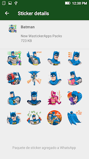 Neue Sticker Memes Superheld WAstickerapps Screenshot