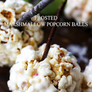 Frosted Marshmallow Popcorn Balls Recipe