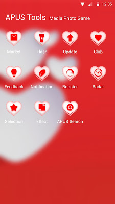 LOVE-APUS Launcher theme - screenshot