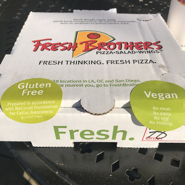 Fresh Brothers Pizza is a must to go to!  Check out the allergy friendly labels!!