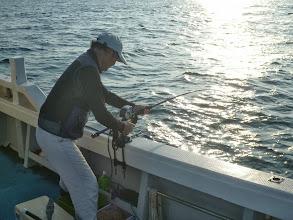 Photo: 先週、ジャンボイサキがよく釣れたので今回も! 最初は、佐賀のイノウエさん!