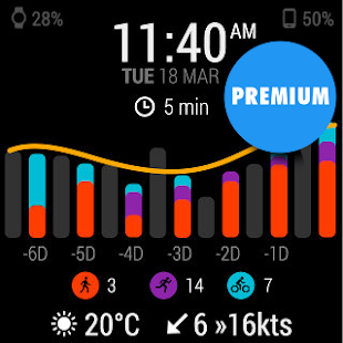InstaWeather for Android Wear – Miniaturansicht des Screenshots