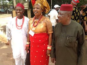 Photo: R-L: Chief Zebrudaya, Prof Okonkwor and Guest