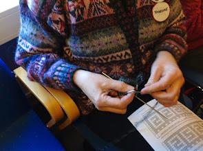Photo: Tvåändsstickningen hade en fortsättningskurs - hur man stickar tekniken med två färger.