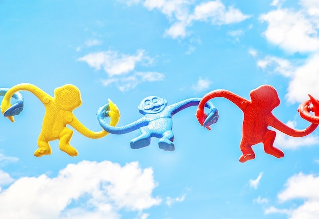 toy monkeys connecting like a CRM integration