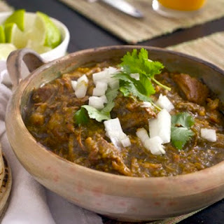 Chile Verde With Pork.