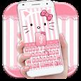 Pink Kitty Bowknot Keyboard icon