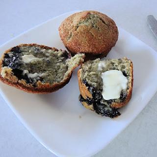 Sourdough Blueberry Cornmeal Muffins