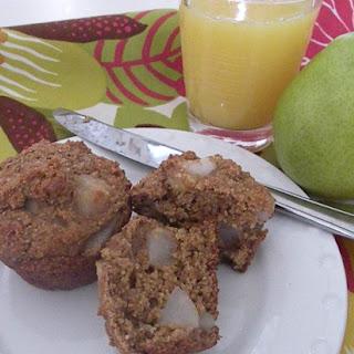 Fresh Pear Bran Muffins
