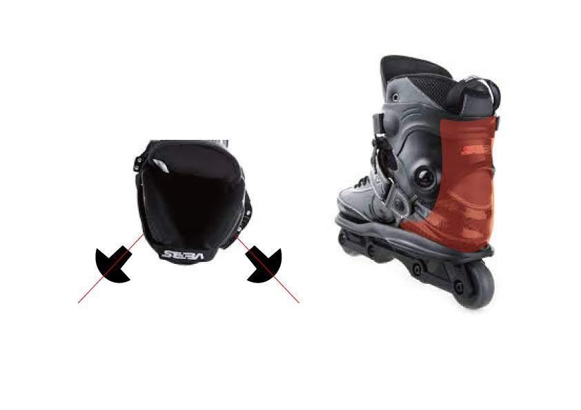 写真2 左:カフボルトの位置と向き 右:固着感のある部分