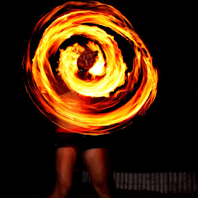 Ring of Fire by Mj Loyola Ganitano - Abstract Fine Art