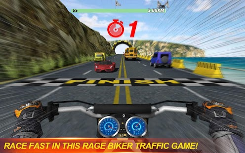 Rage Biker: Traffic Racing - náhled