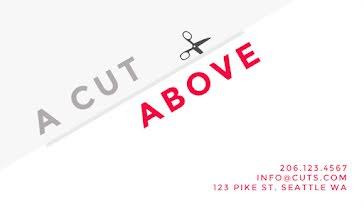 A Cut Above Salon - Business Card Template