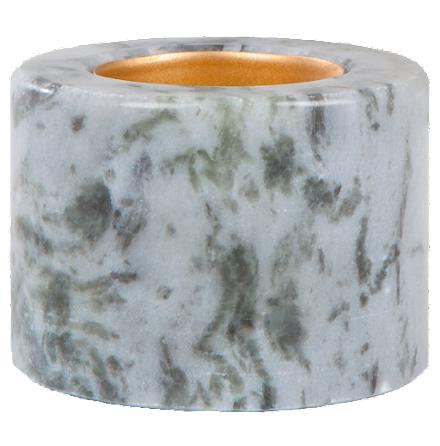 Värmesljushållare blå marmor 2-pack