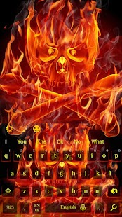 skull on Fire keyboard - náhled
