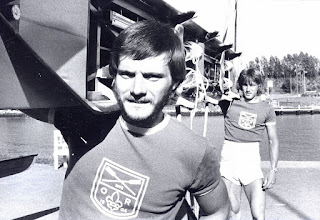 Photo: 1977 Odense Roklubs toer uden styrmand: Jan Nielsen og Flemming Eltang. Foto Fyens Stifstidende.