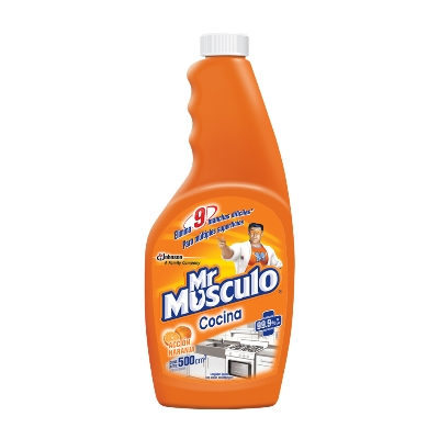 limpiador mr musculo antigrasa naranja rep 500ml