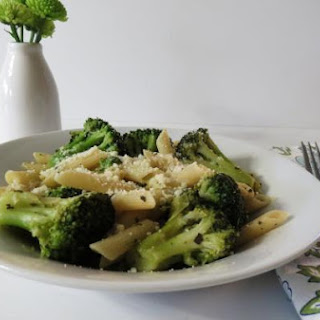 Penne Pasta with Broccoli and Cheese.