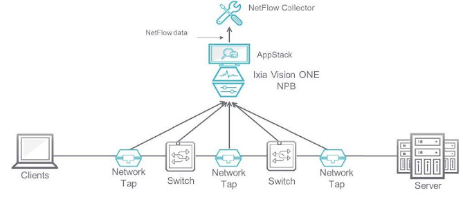 Figure 1 illustrates an NPB serving as a NetFlow generator.