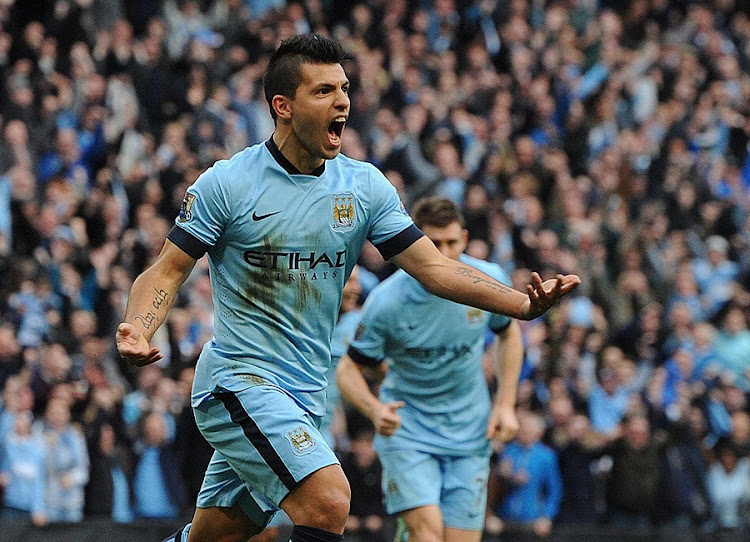 Sergio Aguero. Picture: EPA/PETER POWELL